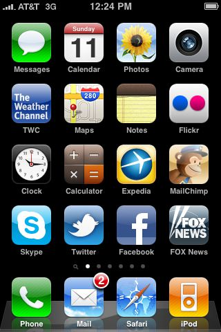 Actual screen shot of my iPhone
